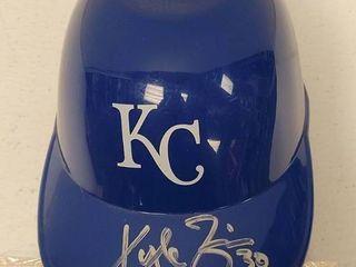 Kyle Zimmer Autographed Kansas City Royals Mini Batting Helmet w  COA