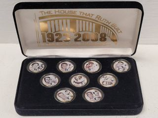 New York Yankees Greatest legends 24kt Gold Plated Colorized State Quarters Set
