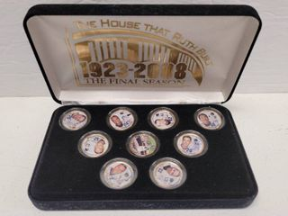 New York Yankees 2008 Team 24kt Gold Plated Colorized State Quarters Set