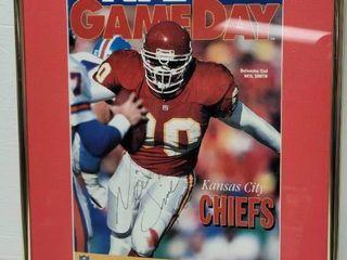 Neil Smith Autographed Kansas City Chiefs Framed Gameday Program w  COA