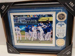 2014 Kansas City Royals American league Champions Highland Mint Coins   Photo Framed