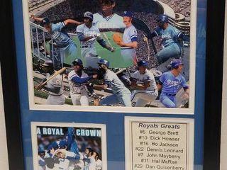1985 Kansas City Royals World Series Champions Photo Collage Framed