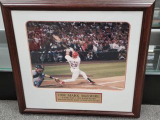 Mark McGwire 1998 Home Run Record Photo Framed 27 5  x 27 5  St  louis Cardinals
