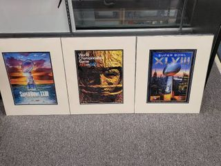Super Bowl Prints lot of 3 16  x 20  First World Championship Game Chiefs