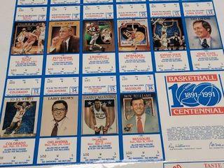 1992 Kansas Jayhawks Basketball Uncut Ticket Sheet