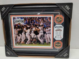 2014 San Francisco Giants World Series Champions Highland Mint Coins   Photo Framed