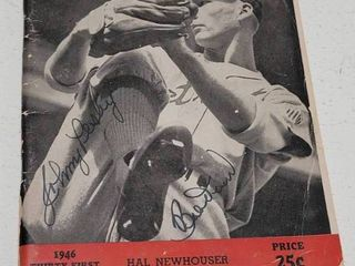 1946 Who s Who Baseball Magazine Bobby Doer   Johnny Pesky Autograph