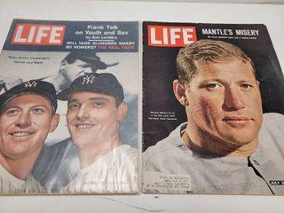 Vintage life Magazine lot 1961   1965 Mickey Mantle Roger Maris New York Yankees