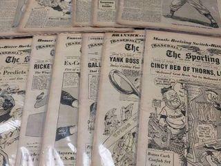 1950 s Sporting News Newspaper lot of 11