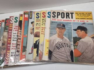 Vintage Baseball Sport Magazine lot of 12 w  Ted Williams Mickey Mantle