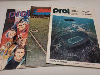 1970 s Kansas City Chiefs Programs lot of 3