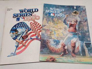 1980   1985 Official World Series Programs Kansas City Royals