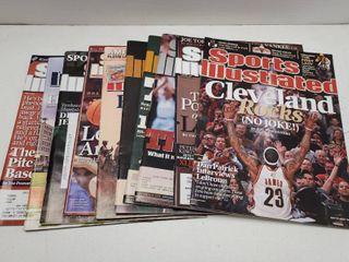 Modern Sports Illustrated Magazine lot of 10 w  lebron James   Derek Jeter