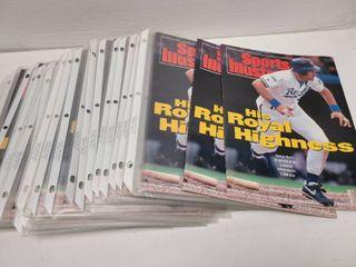 George Brett 3000 Hit Kansas City Royals Sports Illustrated lot of 20