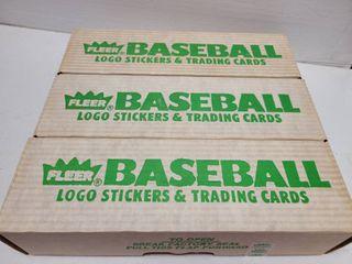 1988 Fleer Baseball Complete 660 Card Set lot of 3