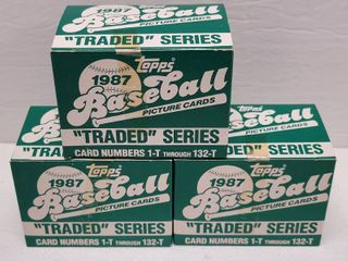 1987 Topps Traded Baseball Complete 132 Card Set lot of 3