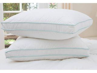 Jumbo  Cozy Classics Bounce Back Gusseted Pillow  Set of 2    White