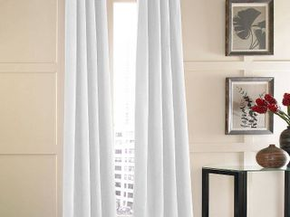 Curtainworks Messina Single Curtain Panel  has a blue stain