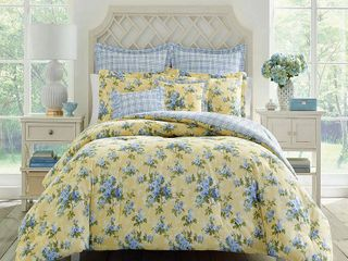 laura Ashley Cassidy Floral Cotton Comforter Set Retail 179 98