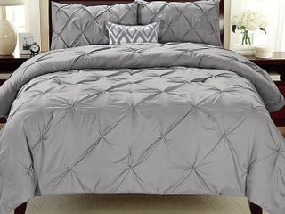 Kotter Home Pinch Pleat Pintuck Comforter Set Retail 129 99