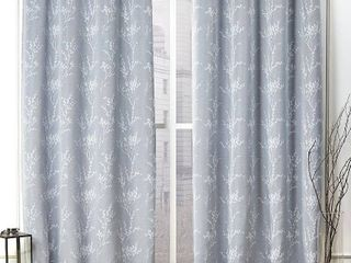 52X96   Chambray Blue  Nicole Miller Turion Grommet Top Curtain Panel Pair