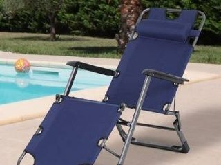 Outsunny metal frame outdoor pool sun lounger