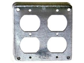 Raco 2 Gang Square Metal Electrical Box Cover