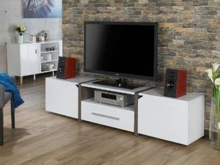 Strick and Bolton Sawa 81 inch tv stand white