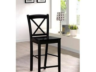 24  Torino X Back Wood Counter Height Barstool   Black   linon