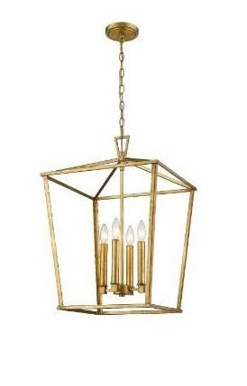 Farmhouse Modern Kitchen Island lantern Gold Finish Retail 181 99