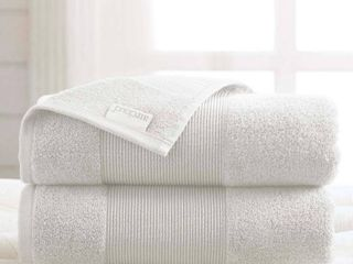 AirCloud 100  Cotton 2 Piece luxury Oversized Bath Sheet   White