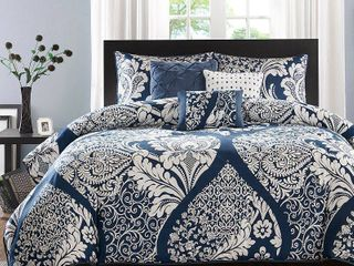 Indigo Adela Duvet Cover Set Full Queen 6pc