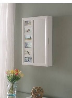 Venice wall mount wood jewelry armoire