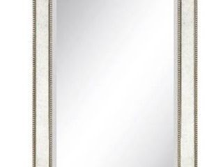 Champagne bead beveled rectangular mirror