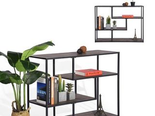 FurnitureR METACRITIC MDF HM Geometric Bookcase