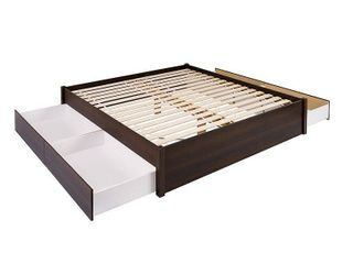 2 Drawers only  platform bed 2 drawers pack  rich espresso