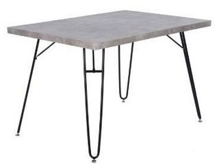 No legs   Carbon loft Searz modern cement grey dining table top only