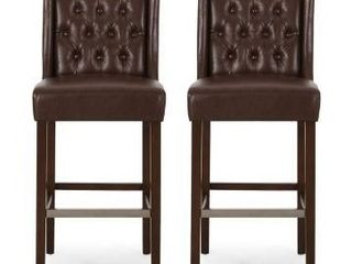Dark Brown   Espresso  Bayliss Contemporary Wingback Barstools  Set of 2  by Christopher Knight Home Retail 263 49