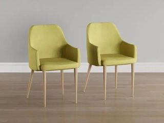 Green  Carson Carrington Pori Mid century Fabric Dining Chair  Set of 2