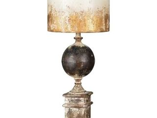 Shiloh Table lamp  Appears pre owned  has some dents  scuffs