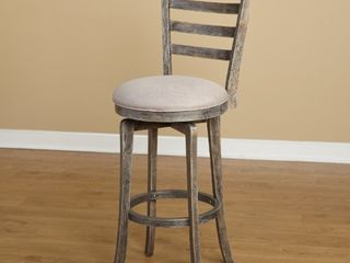Ashton Burntwood ladderback Swivel Barstool