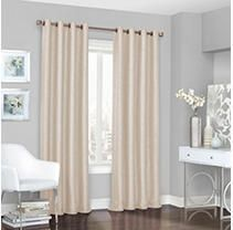 108 x52  Presto Thermalined Blackout Curtain Panel Ivory   Eclipse