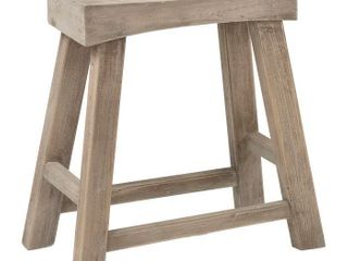 Bennett Rubberwood Stool   Brown   East At Main