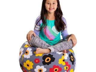 Posh Creations Kids Stuffed Animal Storage Bean Bag Chair Cover   bag of filling