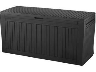 Keter Comfy Resin 71 gallon Deck Storage Box  Damaged