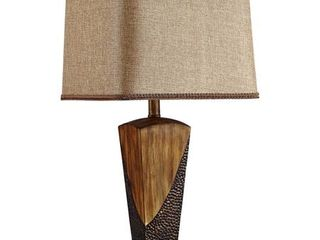 Wood  26 European Style Vintage Bronzed Table lamp