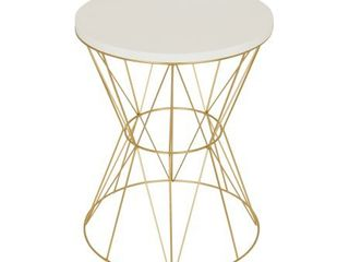 Kate and laurel Mendel Round Metal End Table  base has a kink