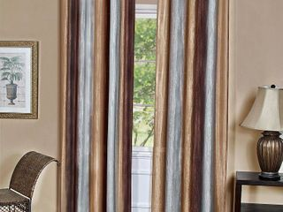 50x63   Chocolate  Achim Ombre Single Curtain Panel