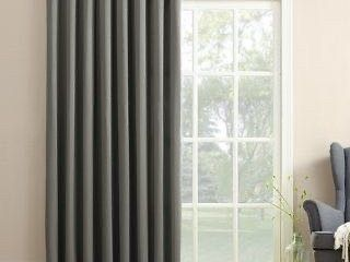 54 x 84   Steel Grey  Porch   Den Nantahala Grommet Room Darkening Curtain Panel