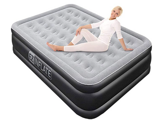 EZ Inflate   Queen Double High Air Bed
